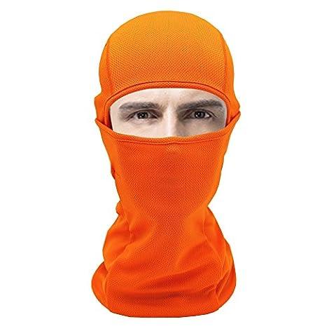 Mehrzweck-Sommer atmungsaktive Sport Orange-Maske für Outdoor-Ski Radsport Motorrad kampierenden
