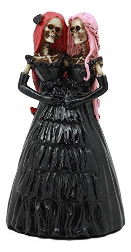 Ebros Skelett-Statue, Steampunk, zusammengefügt, Siamesische Zwillinge Frau, 13 cm H Tag der Toten Schwesternschaft, Dekoration