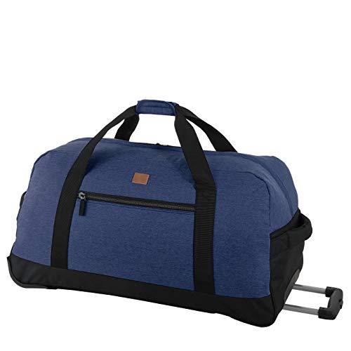 Rada Reisetasche RT 32 L 82 Liter mit Rollen und ausziehbarem Teleskopgestänge, Wasserabweisend für Jungen und Mädchen, Reisetasche perfekt für den Urlaub (Maße: 38x75x37cm) (Blue 2tone Cognac)