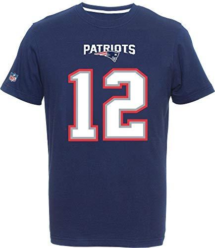 Fanatics New England Patriots Name and Number T Shirt Brady 12 Navy - M