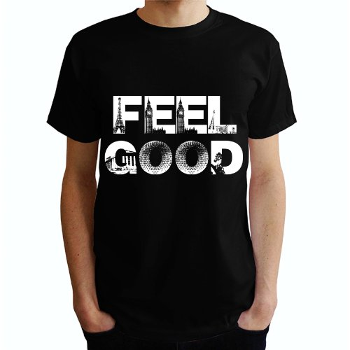 FEEL GOOD Herren T-Shirt Schwarz