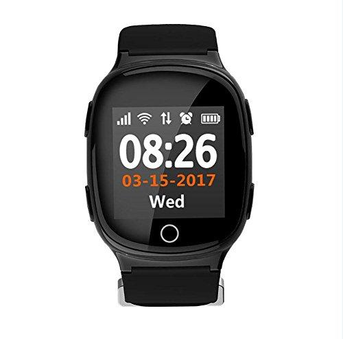 Reloj GPS Seguimiento de seguridad por wifi Rastreador de SmartWatch para ancianos...