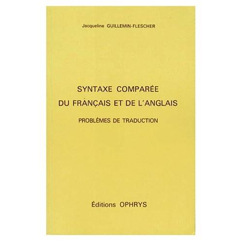 Syntaxe comparée du français et de l'anglais