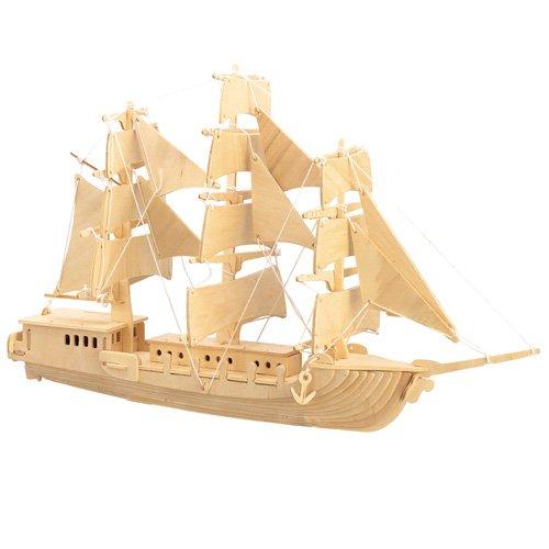 Etna Iława Europäisches Segelschiff 3D Holzbausatz Schiff Boot Holz Steckpuzzle Holzpuzzle Kinder P049
