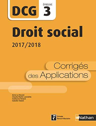 DCG 3 - Droit social - 2017/2018
