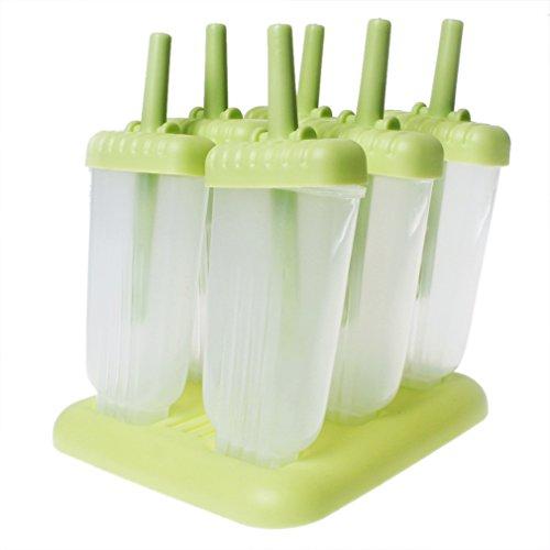 A-szcxtop DIY Frozen Ice Cream Molds Ice Lolly Cream Maker Popsicle Yogurt Icebox Fridge Frozen Treats