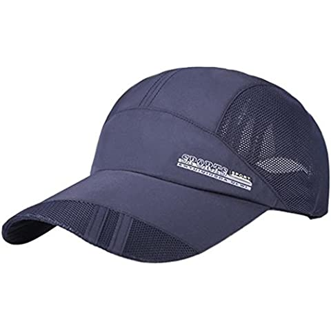 Sombrero adulto de secado rápido plegable Sombrero de sol,Longra al aire libre gorra de béisbol protector solar (Armada)