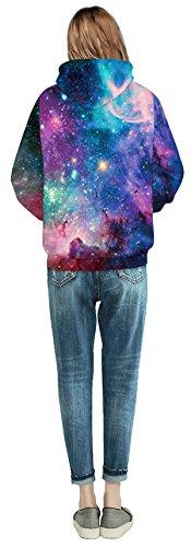 Unisex 3D Galaxy Druck Kapuzenpullover Cartoon Sweatshirt Weihnachten Langarm Top Shirt Herbst Spaß Hoodie für Teens Pullover 01