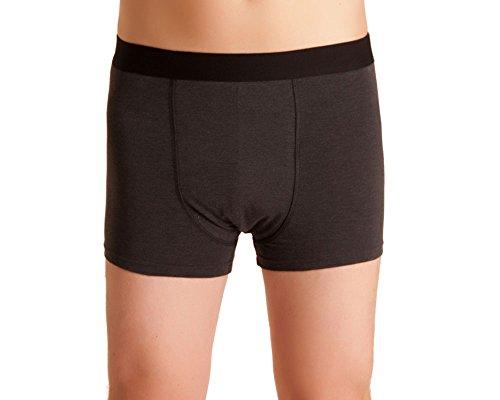Herren Inkontinenz-Shorts, waschbare Inkontinenz-Unterhose Männer, dunkelgrau/melange, mit Saugeinlage, für Tagesinkontinenz geeignet, ActivePro Men Normal (M) - Inkontinenz-unterwäsche Männer Für