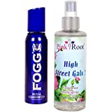 Fogg Royal Fragrant Body Spray 100ml And Pink Root High Street Gals Fragrance Body Spray 200ml Pack Of 2