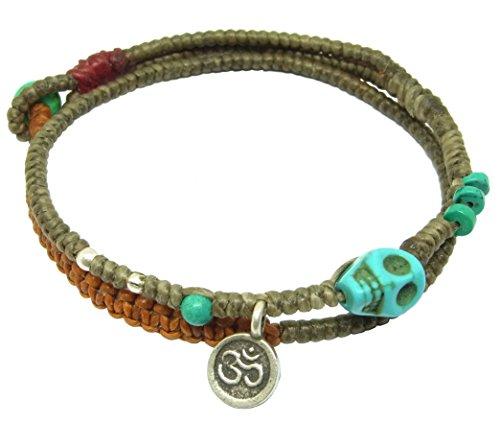 lun-na-asiatique-fait-main-bracelet-argent-925-pandant-ohm-perles-pierre-turquoise-tete-de-mort-gris