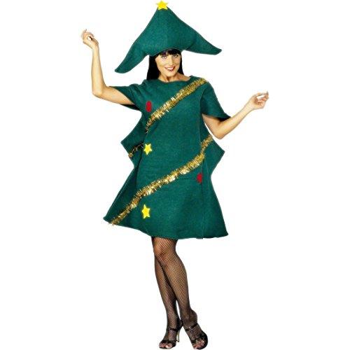 Tannenbaum Kostüm Weihnachtsbaum Kleid mit Hut Christbaum Weihnachtskostüm Weihnachtsbaumkostüm Tannenbaumkostüm Verkleidung (Weihnachtsbaum Kostüme Kleid)