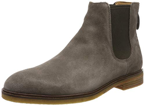 Clarks Herren Clarkdale Gobi Chelsea Boots, Grau Taupe Suede, 42 EU
