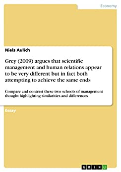 human relations and scientific management Extract the human relations approach to management was originated in the 1930s as a reaction against the mechanistic view of organizations and the pessimistic view of human nature suggested by the classical approach.