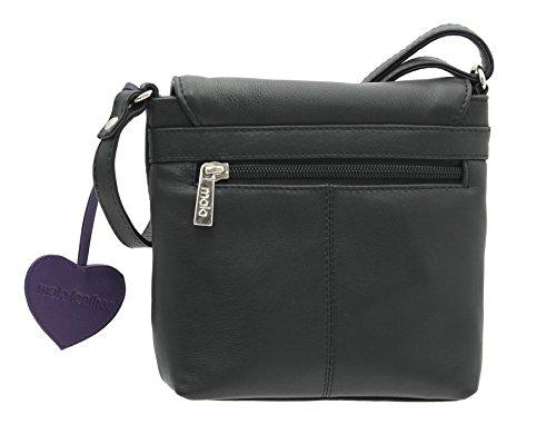 Mala en cuir ANISHKA Collection Compact cuir épaule / Cross Body Bag 772_75 Or noir
