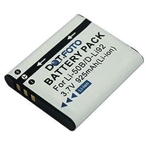 Dot.Foto Batterie de qualité pour Olympus LI-50B, LI-50BA, LI-50BB - 3,7v / 925mAh - garantie de 2 ans - Olympus D-750, D-755, D-760, D-780, D-785, DZ-100, DZ-105, mju 1010, 1020, 1030 SW, 9000, 9010, TOUGH 6000, TOUGH 6010, TOUGH 6020, TOUGH 8000, TOUGH 8010, SH-21, SH-25MR, SP-720UZ, SP-800UZ, SP-810UZ, SP-815UZ, SZ-10, SZ-11, SZ-12, SZ-14, SZ-15, SZ-16, SZ-17, SZ-20, SZ-30MR, SZ-31MR, TG-610, TG-620, TG-630, TG-805, TG-810, TG-820, TG-830, TG-835, TG-850, TG-860, VG-170, VG-190, VH-410, VH-510, VH-520, VR-340, VR-350, VR-360, VR-370, XZ-1, XZ-10