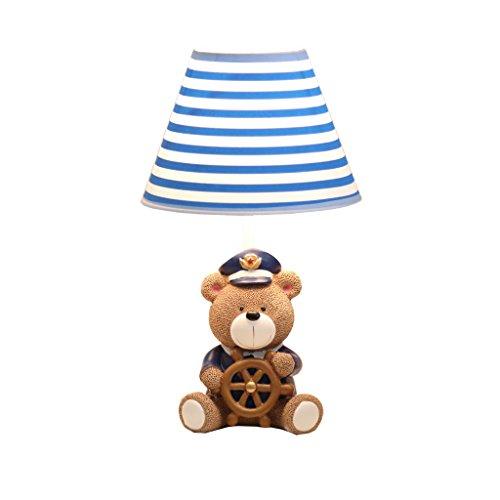 DENGJU Captain Bear Lampe de table pour enfants Chambre Grand cadeau pour garçon et fille Bleu et blanc LED (taille : A)