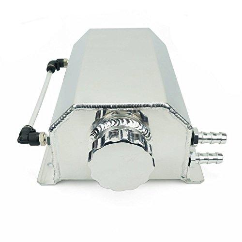 Heinmo 2 Liter Universal-Aluminium-Legierung Auto Motor Oil Catch kann Tank Auto Reservoir Tank 2000ml Auto eloxiert Aluminium können Splitter