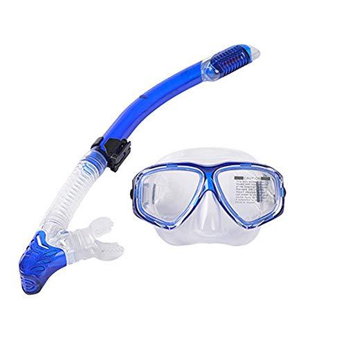 Kalaokei Optische Myopie Nearsighted Goggles Dry Top Schnorchel Tube Tauchermaske Einheitsgröße blau -
