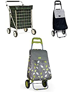 Top Quality 4 Wheel 2 Wheel Lightweight Modern Stylish Design Shopping Trolley With Soft Grip