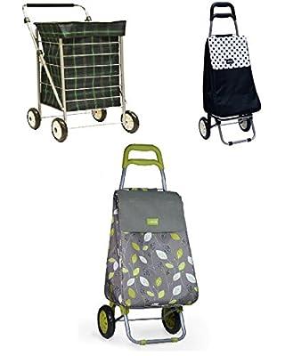 Top Quality 4 Wheel 2 Wheel Lightweight Modern Stylish Design Shopping Trolley With Soft Grip