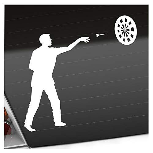 Preisvergleich Produktbild Kiwistar Darts Bullseye Spieler Figur Aufkleber Sticker 25 Farben Neon Matt