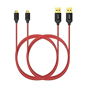 Anker Micro USB Cable Nylon Braided Tangle-Free Micro Cable with Gold-Plated Connectors for Android, Samsung, HTC, Nokia, Sony and More