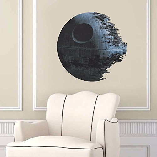 new - DEATH STAR ARTWORK Star Wars Creative Wall Stickers Vinyl Decal Sticker Removable Wall Decals Home Decor Clone Boys Room Decor