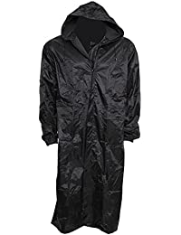 Mens Waterproof Hooded Lightweight Long Outdoor Rain Coat