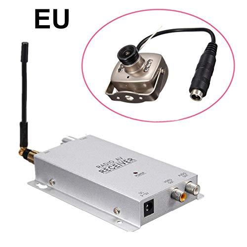 Preisvergleich Produktbild QueenHome Kamera-Detektor 1, 2 GHz mit Objektiv-Detektor 1, 2 G-Kamera für Überwachungskamera 208C Radio-AV-Receiver mit Netzteil Full Kit Wireless Hidden Camera Equipment weiß