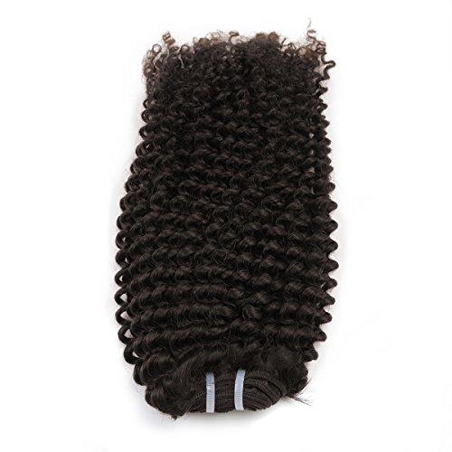 RemyToWear Tissage cheveux vierges naturels frisés de qualité exceptionnelle longueur 30 centimètres de couleur 1B