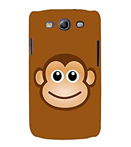 PrintVisa Smile Monkey Face 3D Hard Polycarbonate Designer Back Case Cover for Samsung Galaxy S3 Neo i9300i :: Samsung I9300I Galaxy S3 Neo :: Samsung Galaxy S III Neo+ I9300I :: Samaung Galaxy S3 Neo Plus