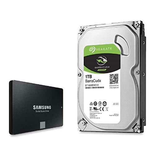 Foto Impacchettare : Unità disco rigido Barracuda da 3,5 pollici Samsung 250 GB 860 EVO da 2,5 pollici + Seagate da 1 TB