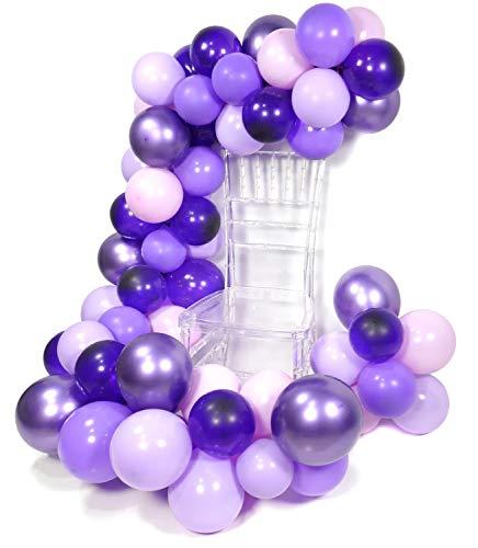 PuTwo Lila Luftballons, 70 Stück 12 Zoll Satz von Luftballon Pastell Lila Lila Ballons Ballon Violett Luftballons Lavendel Metallic Luftballon Lila für Prinzessin Sofia Party, Shopkins Party