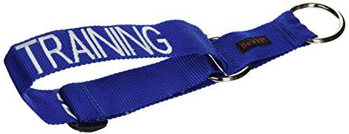 hundeinfo24.de ABRICHTUNG Training Blau Farbkodiertes Nylon Nicht Ziehen Vorderseite Rückseite Ring Große L-XL-Hundegeschirr  (Bitte nicht stören) verhindert Unfälle durch Warnung Sonstige Ihren Hund im Voraus