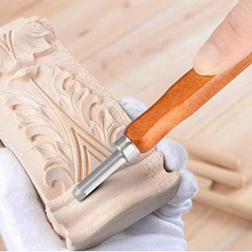 TIMESETL 12 piezas Cinceles para Madera con 4 piezas de Piedra de Aceite,Cuchillo de Talla de Madera,Cincel Artesanal de Bricolaje, Cuchillo de Talla,Conjunto de Herramientas de Talla con Estuche de A