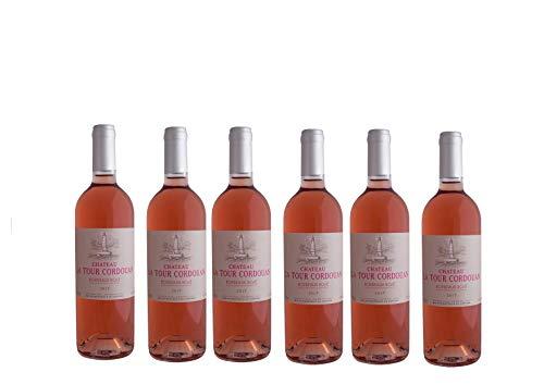 ROSE CHATEAU LA TOUR CORDOUAN - Bordeaux rosé Wine - 2017-6 bottles Pack
