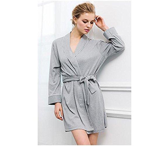 HXQ Damen Bademäntel Nightgowns Pyjamas Casual Wear Bademäntel Robe ...