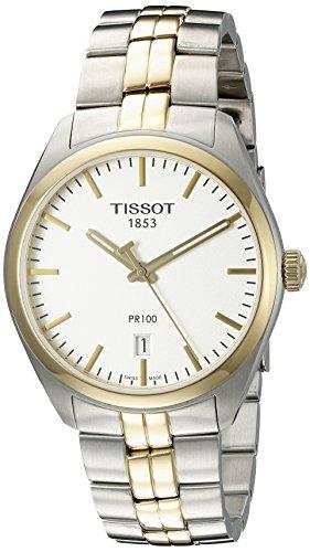 TISSOT Herren Analog Quarz Uhr mit Edelstahl Armband T1014102203100