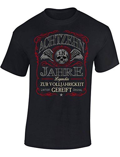 Geburtstags Shirt: 18 Jahre Legendär - Achtzehn-TER Geburtstag T-Shirt - Geschenk zum 18. - Frau-en - Mann Männer - Damen & Herren - Lustig - Birthday - Jahrgang 2001 (S)