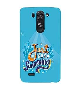 FUSON Just Keep Swimming Baby 3D Hard Polycarbonate Designer Back Case Cover for LG G3 S :: LG G3 S Duos :: LG G3 Beat Dual :: LG D722K :: LG G3 Vigor :: LG D722 D725 D728 D724