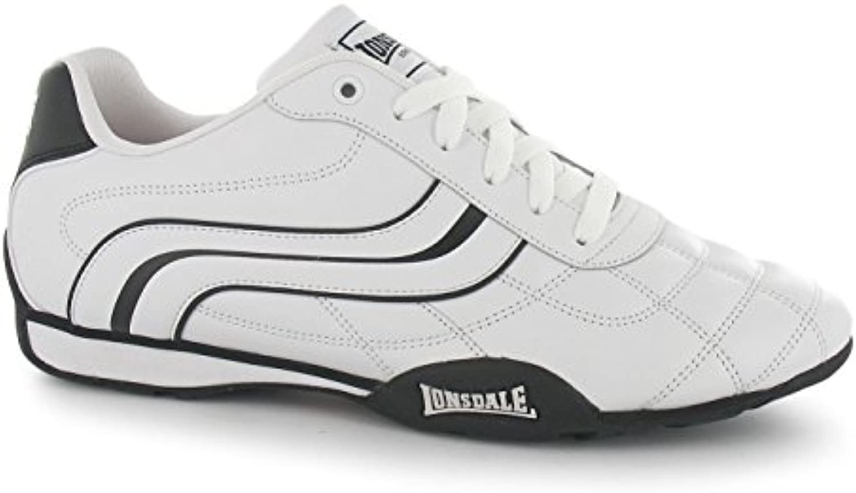 Lonsdale Camden, Scarpe da ginnastica ginnastica ginnastica da uomo bianco nero casual Calzature, bianco nero   Un equilibrio tra robustezza e durezza  d4750a
