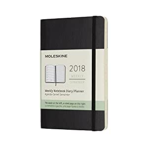 2018 Moleskine Pocket Weekly Notebook Diary 12 Months Soft