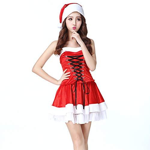 Shisky Weihnachtskostüme, Weihnachtskostüm Rollenspiele niedlich Gurt große rote Weihnachten Kleid