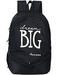 "POLE STAR ""BIG-3"" 38 Lt Black Casual Backpack I School Bag"