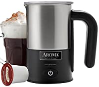 AROMA Stainless Steel Milk Frother - 2 cup