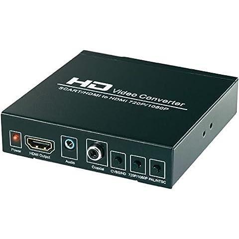 Scart - HDMI convertitore adattatore segnale UPSCALER Converter Adapter per Wii VHS STB DVD HDTV xbox - wikson electronics