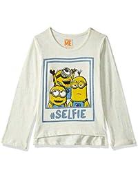 Minions Kids Girls Multi Neps Color Full Sleeve T-Shirt