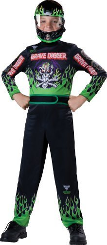 (Monster Jam Grave Digger Costume, Size 6/Small by Monster Jam)