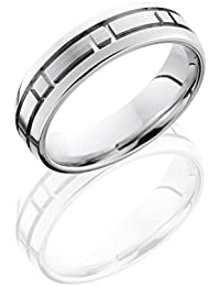 Cobalt Chrome, Engraved Wedding Band Satin Polished Finish (sz H to Z1)